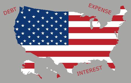 USA FLAG-MAP